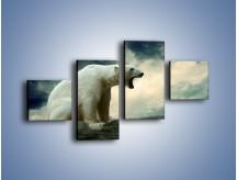 Obraz na płótnie – Donośny krzyk polarnego niedźwiedzia – czteroczęściowy Z114W3