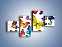 Obraz na płótnie – Kolorowo wśród motyli – czteroczęściowy Z236W3