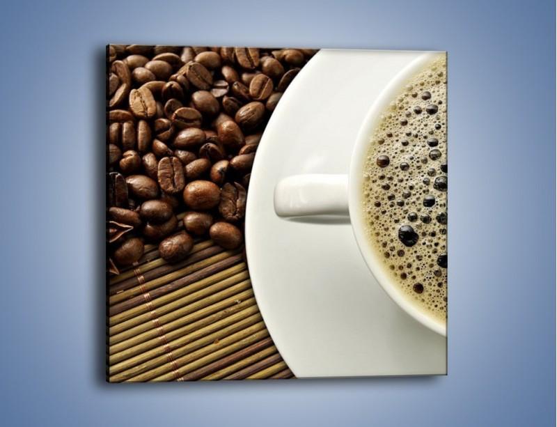 Obraz na płótnie – Zaparzona kawa z pianką – jednoczęściowy kwadratowy JN384