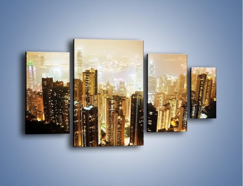 Obraz na płótnie – Miasto widziane z góry – czteroczęściowy AM007W4