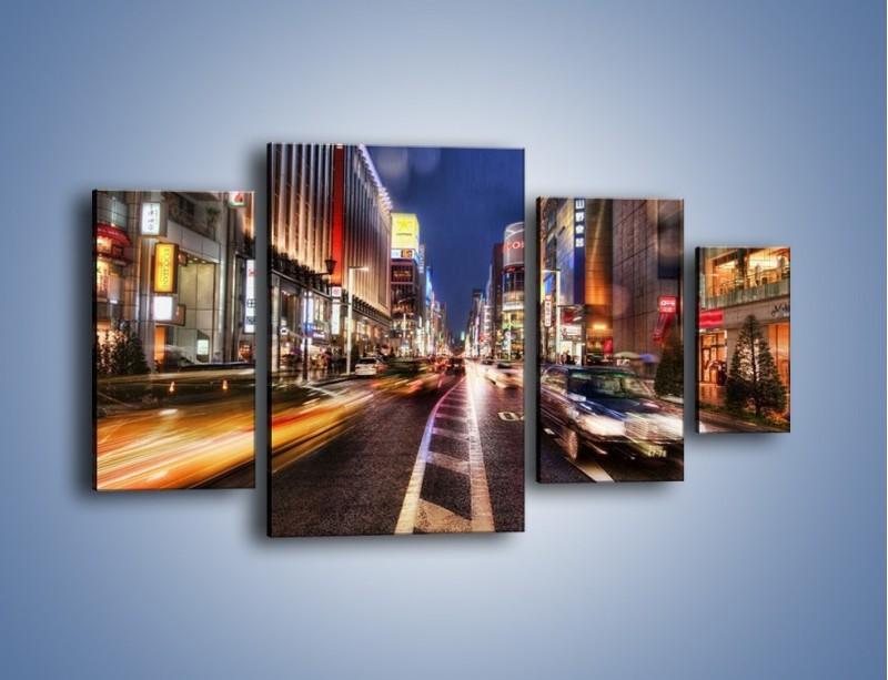 Obraz na płótnie – Tokyo w ruchu – czteroczęściowy AM015W4