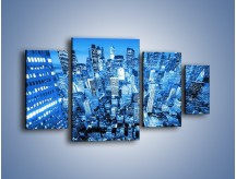 Obraz na płótnie – Centrum miasta w niebieskich kolorach – czteroczęściowy AM042W4