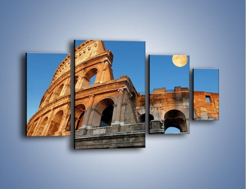 Obraz na płótnie – Pełnia księżyca nad Koloseum – czteroczęściowy AM069W4