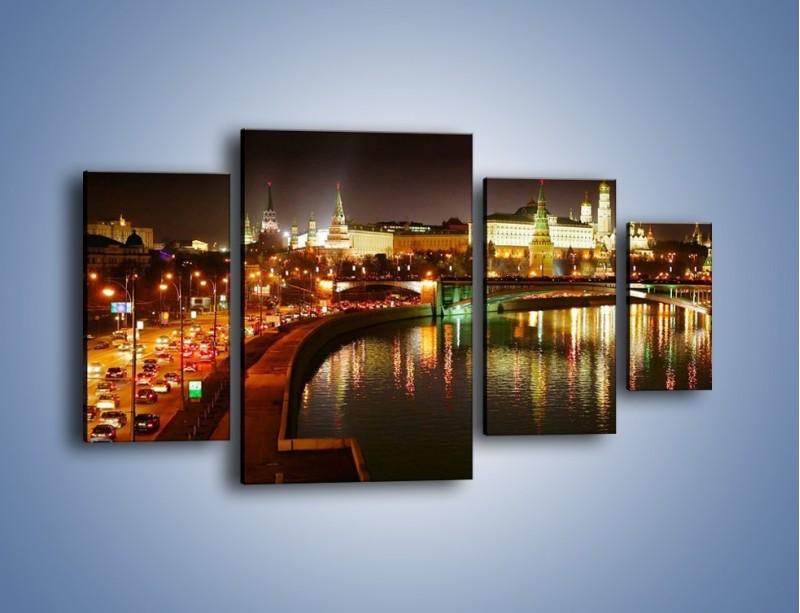 Obraz na płótnie – Moskwa nocą – czteroczęściowy AM118W4