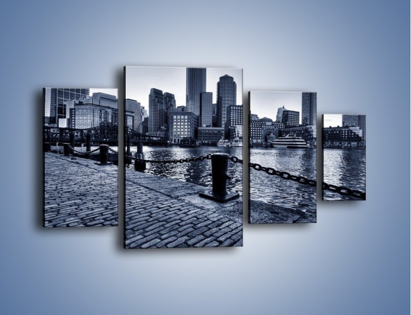 Obraz na płótnie – Wybrukowana wybrzeże miasta – czteroczęściowy AM132W4