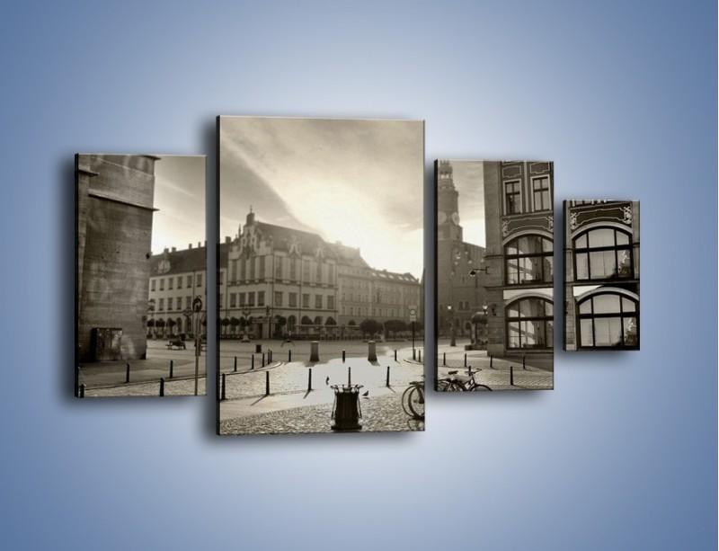 Obraz na płótnie – Rynek Starego Miasta – czteroczęściowy AM136W4