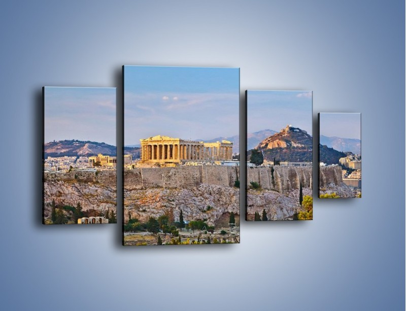 Obraz na płótnie – Ateńskie ruiny – czteroczęściowy AM162W4