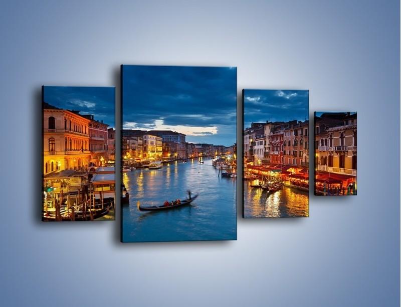 Obraz na płótnie – Wenecja romantyczną porą – czteroczęściowy AM163W4