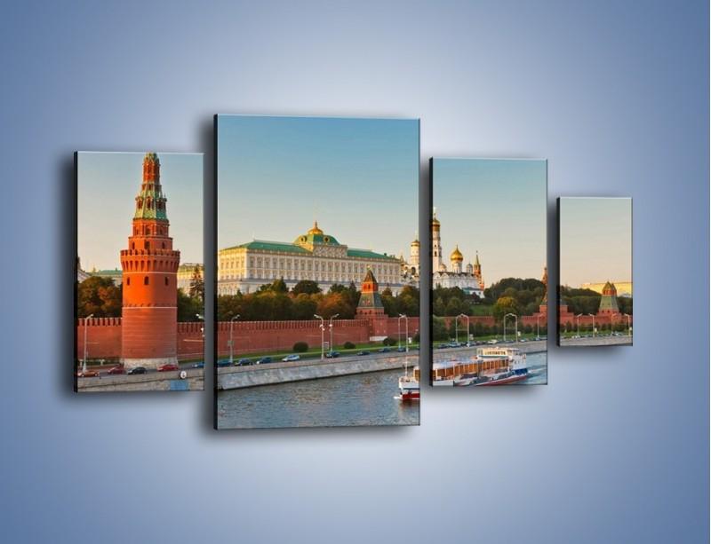 Obraz na płótnie – Kreml w środku lata – czteroczęściowy AM164W4
