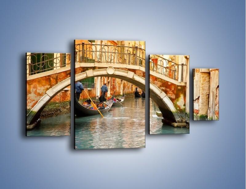Obraz na płótnie – Weneckie gondole – czteroczęściowy AM172W4