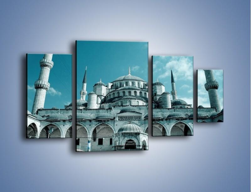 Obraz na płótnie – Taj Mahal – czteroczęściowy AM175W4