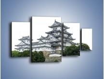 Obraz na płótnie – Azjatycka architektura – czteroczęściowy AM181W4