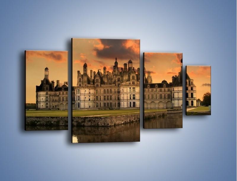 Obraz na płótnie – Stary zamek – czteroczęściowy AM200W4