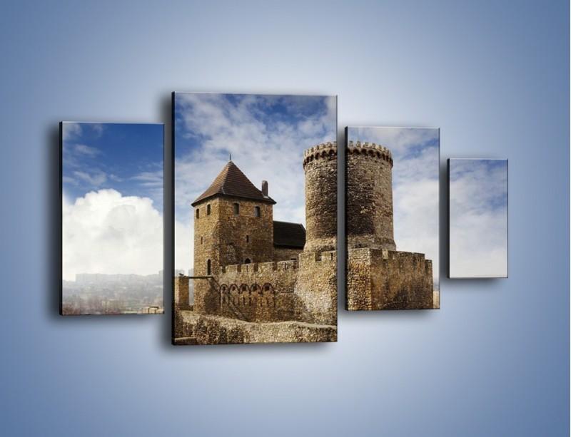 Obraz na płótnie – Średniowieczna fortyfikacja – czteroczęściowy AM201W4