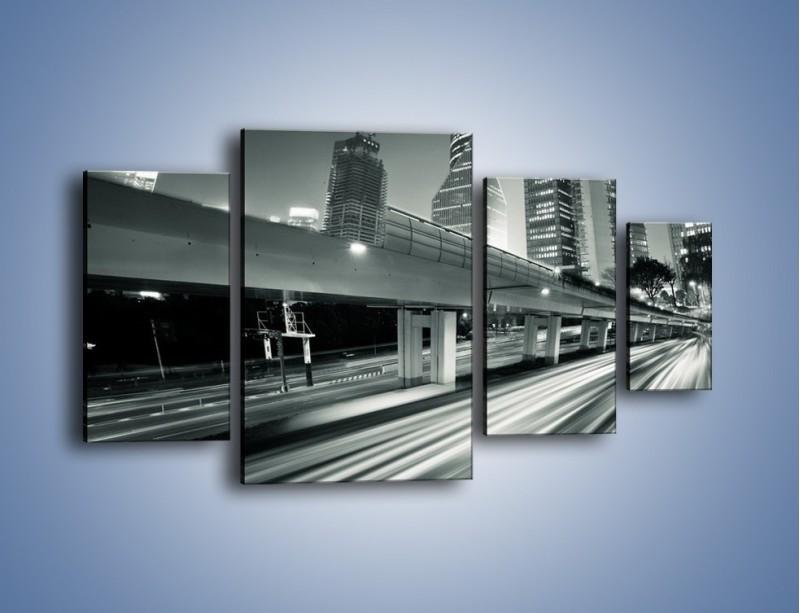 Obraz na płótnie – Miasto w odcieniach szarości – czteroczęściowy AM205W4