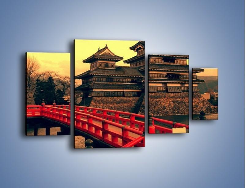 Obraz na płótnie – Japońska architektura – czteroczęściowy AM235W4