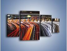 Obraz na płótnie – Autostradowa bramka w ruchu świateł – czteroczęściowy AM236W4