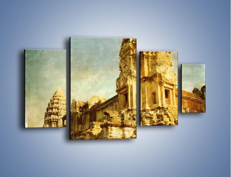 Obraz na płótnie – Starożytna architektura w stylu vintage – czteroczęściowy AM246W4