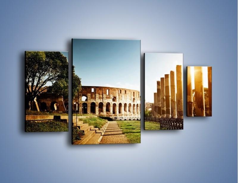 Obraz na płótnie – Koloseum w świetle słońca – czteroczęściowy AM269W4