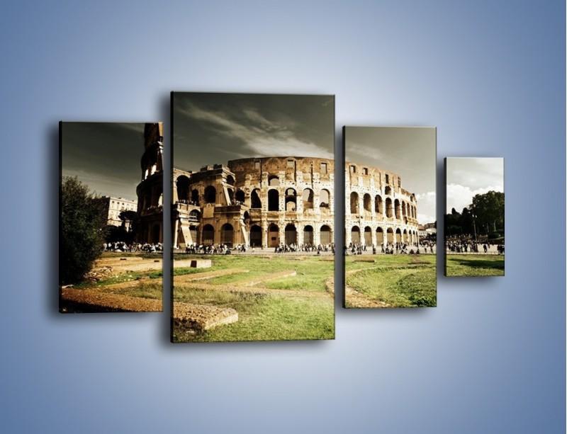Obraz na płótnie – Koloseum przed burzą – czteroczęściowy AM271W4