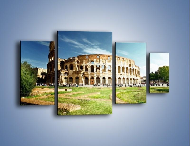 Obraz na płótnie – Koloseum w piękny dzień – czteroczęściowy AM273W4