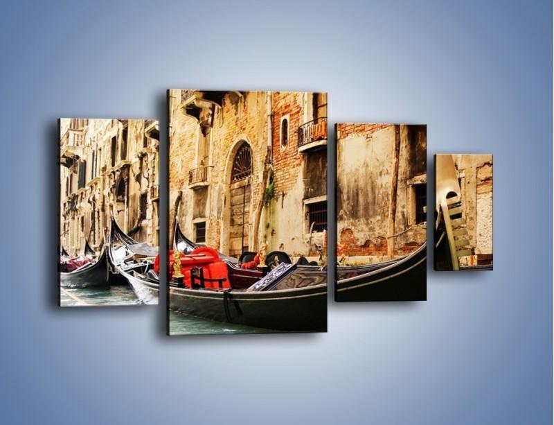 Obraz na płótnie – Wenecka gondola – czteroczęściowy AM286W4