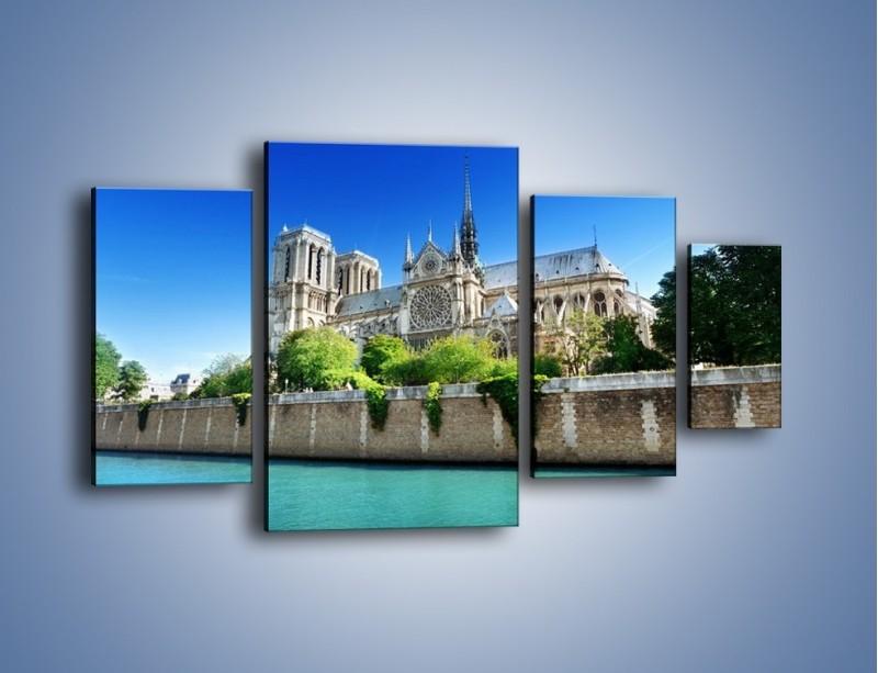 Obraz na płótnie – Katedra Notre-Dame – czteroczęściowy AM305W4
