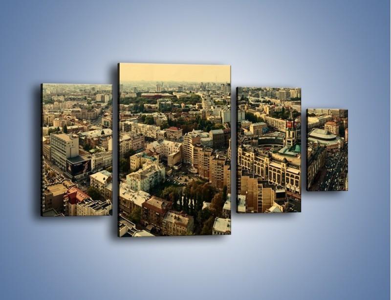 Obraz na płótnie – Panorama Kijowa – czteroczęściowy AM326W4