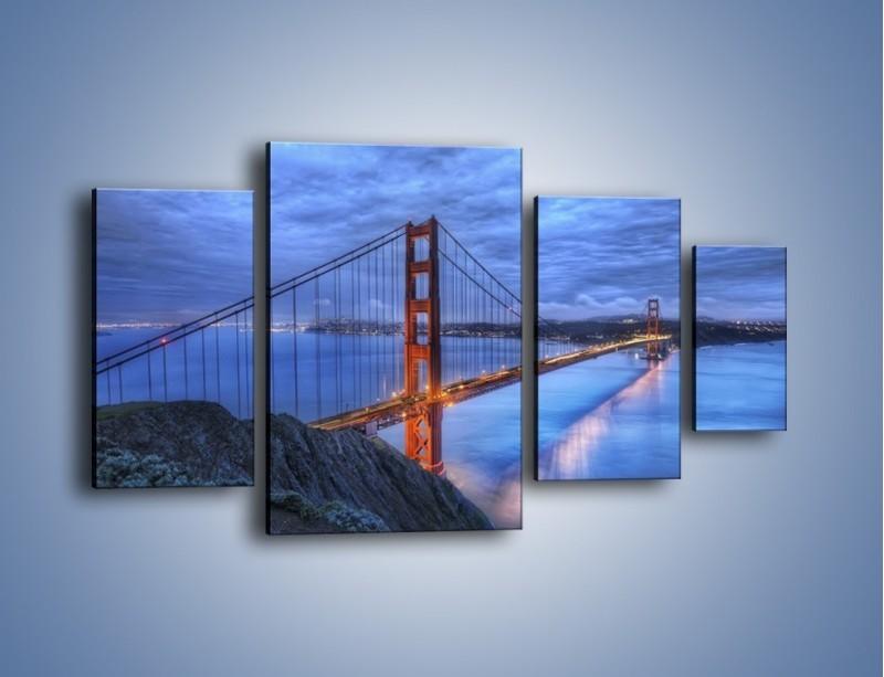 Obraz na płótnie – Most Golden Gate – czteroczęściowy AM328W4