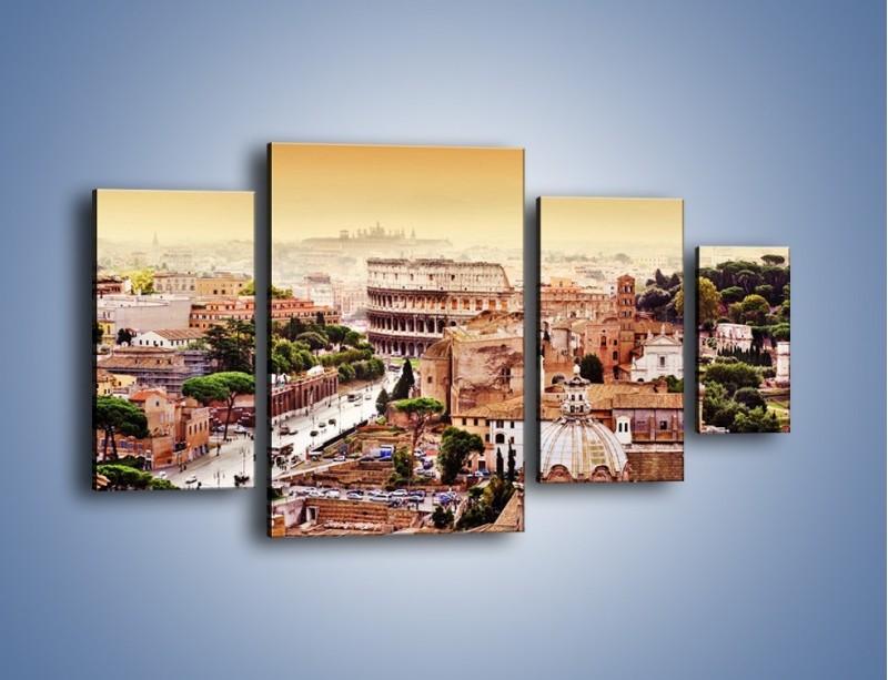 Obraz na płótnie – Panorama Rzymu – czteroczęściowy AM338W4