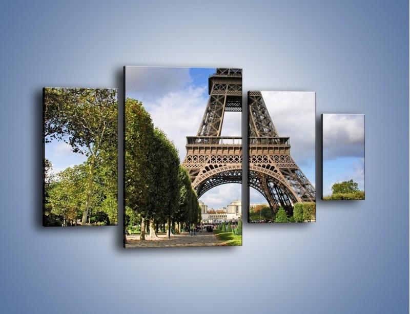 Obraz na płótnie – Wieża Eiffla – czteroczęściowy AM340W4
