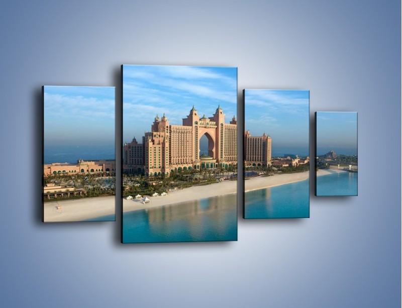 Obraz na płótnie – Atlantis Hotel w Dubaju – czteroczęściowy AM341W4