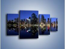 Obraz na płótnie – Brisbane w Australii nocą – czteroczęściowy AM354W4