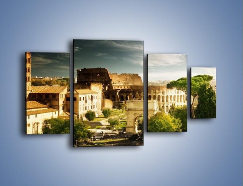 Obraz na płótnie – Ruiny starożytnego Rzymu – czteroczęściowy AM357W4