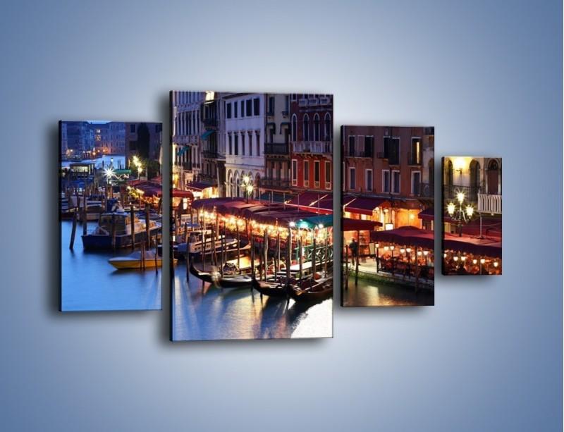 Obraz na płótnie – Wieczorowe życie w Wenecji – czteroczęściowy AM358W4