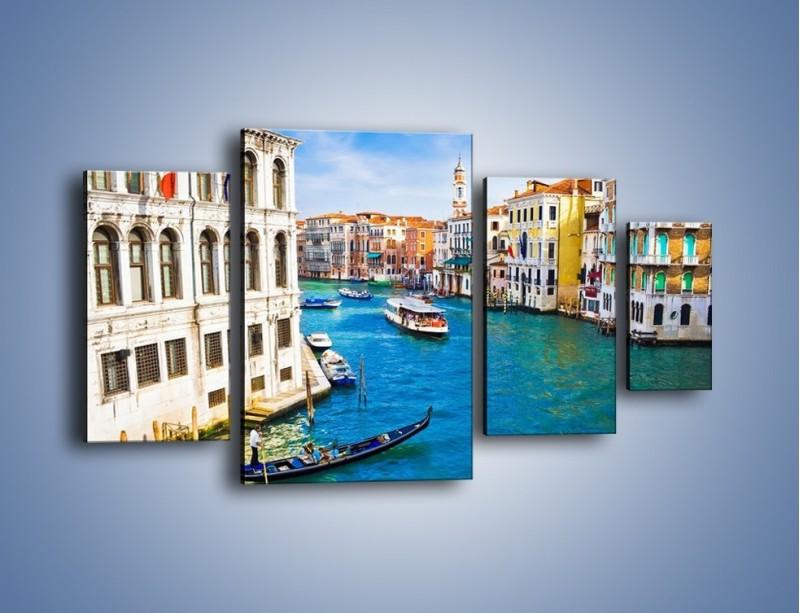 Obraz na płótnie – Kolorowy świat Wenecji – czteroczęściowy AM362W4