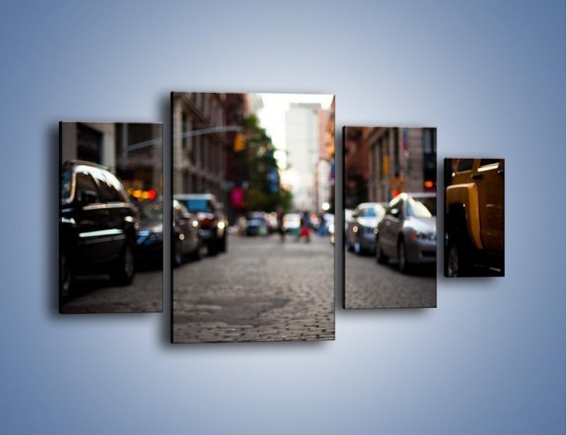 Obraz na płótnie – Rozmyty świat centrum miasta – czteroczęściowy AM367W4