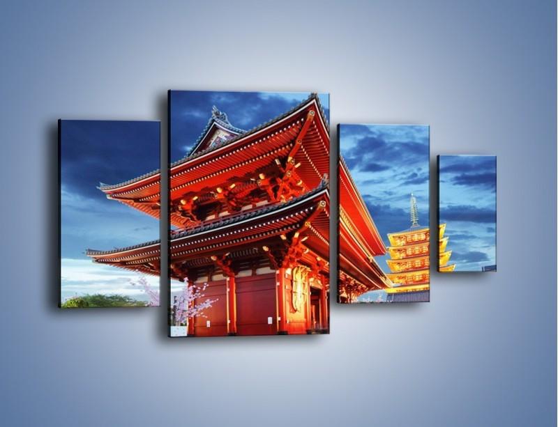 Obraz na płótnie – Świątynia Senso-ji w Tokyo – czteroczęściowy AM378W4