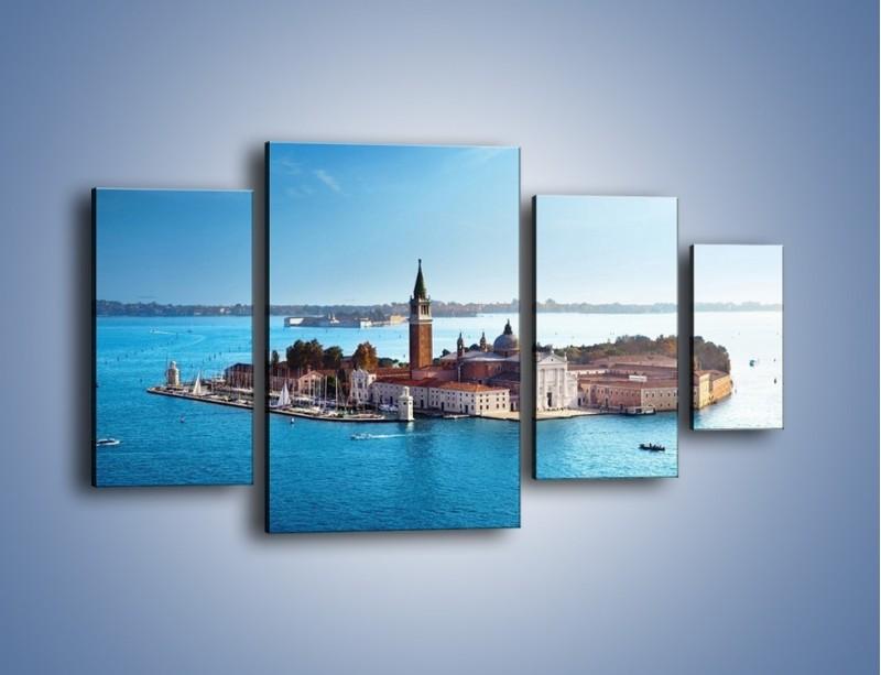 Obraz na płótnie – Wyspa San Giorgio Maggiore – czteroczęściowy AM380W4