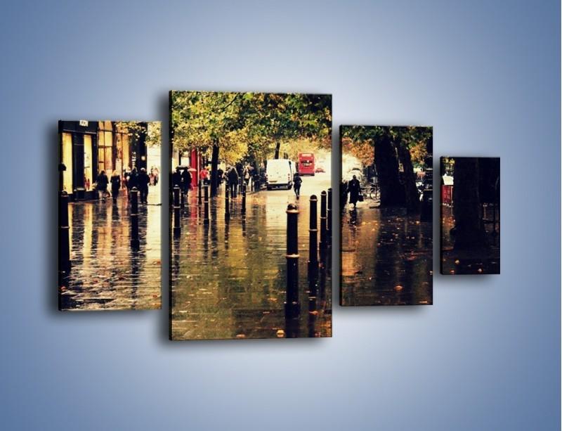 Obraz na płótnie – Deszczowa jesień w Moskwie – czteroczęściowy AM383W4