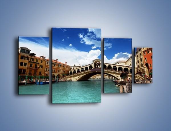 Obraz na płótnie – Most Rialto w Wenecji – czteroczęściowy AM386W4