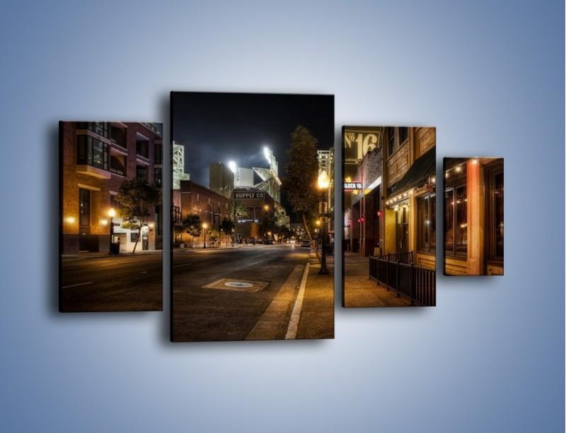 Obraz na płótnie – Ulica San Diego w Kaliforni – czteroczęściowy AM390W4