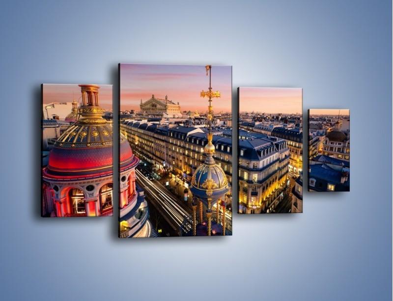 Obraz na płótnie – Paryska architektura – czteroczęściowy AM402W4