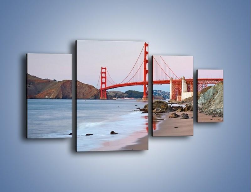 Obraz na płótnie – Most Golden Gate – czteroczęściowy AM406W4
