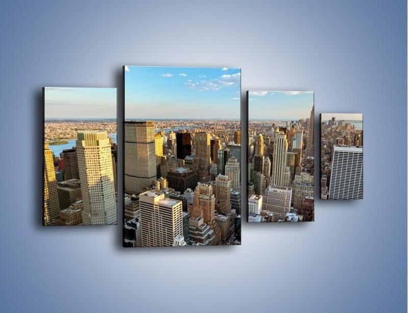 Obraz na płótnie – Manhattan w Nowym Yorku – czteroczęściowy AM412W4