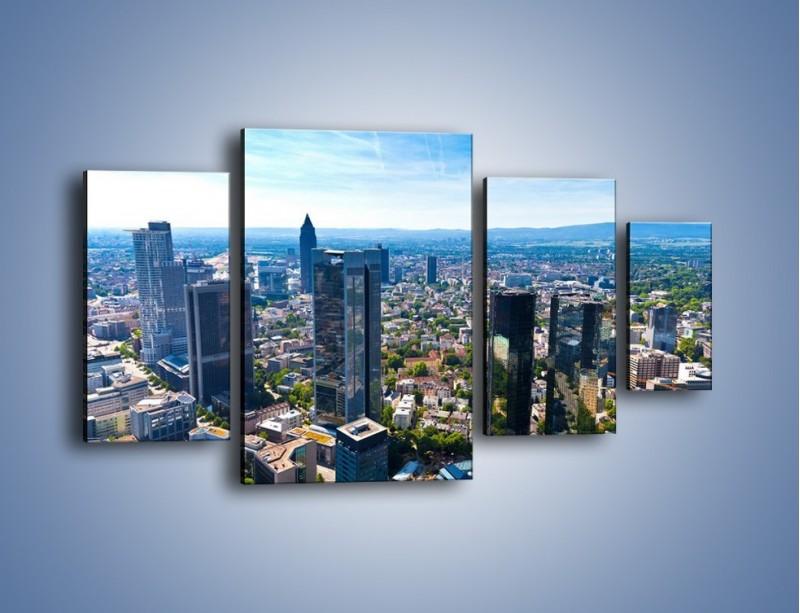 Obraz na płótnie – Panorama Frankfurtu – czteroczęściowy AM414W4
