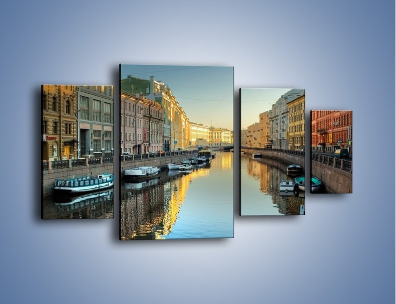 Obraz na płótnie – Kanał wodny w St. Petersburgu – czteroczęściowy AM422W4