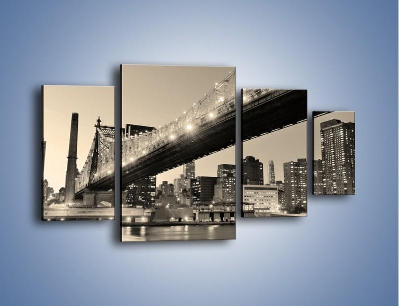 Obraz na płótnie – Most Qeensboro w Nowym Yorku – czteroczęściowy AM438W4