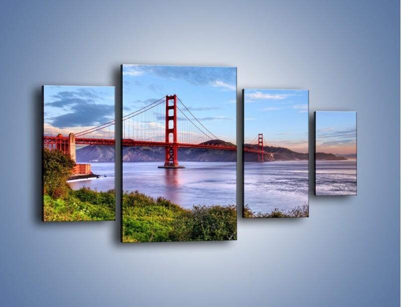 Obraz na płótnie – Most Golden Gate w San Francisco – czteroczęściowy AM444W4