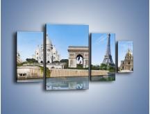 Obraz na płótnie – Atrakcje turystyczne Paryża – czteroczęściowy AM448W4